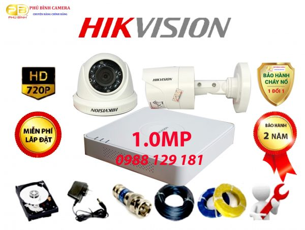Trọn Bộ 2 Camera Hikvision 1.0