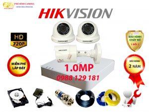 Trọn Bộ 3 Camera Hikvision 1.0