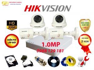 trọn bộ 4 camera hikvision 1.0