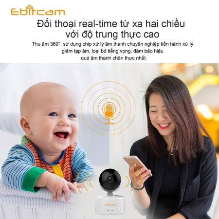camera ip wifi ebitcam âm thanh 2 chiều