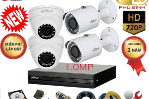 DEMO-COMBO LẮP TRỌN BỘ 4 CAMERA DAHUA 1.0MP-FULL HD