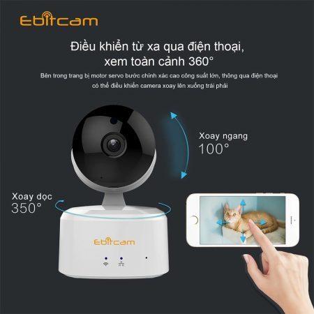camera ebitcam có thể xoay 360 độ