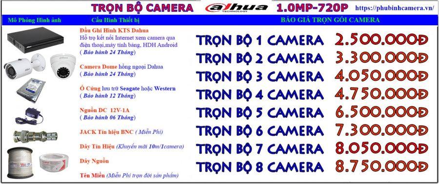 bảng giá lắp đặt camera