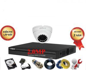Bộ 1 Mắt Dahua 2.0M 1080P Vỏ Kim Loại
