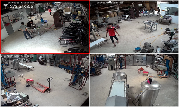 Lắp Đặt Trọn bộ 7 Camera Dahua 1.0MP tại Xưởng Cơ Khí