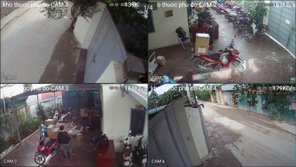 Lắp trọn bộ 12 camera dahua 1.0 văn phòng kho thuốc Phú Đô