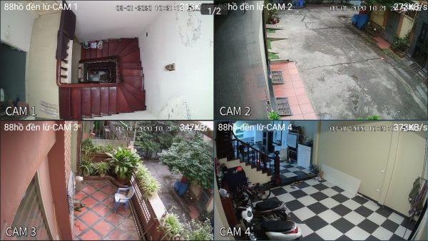 Lắp trọn bộ 4 Camera Dahua 2.0mp tại 88 Hồ Đền Lừ