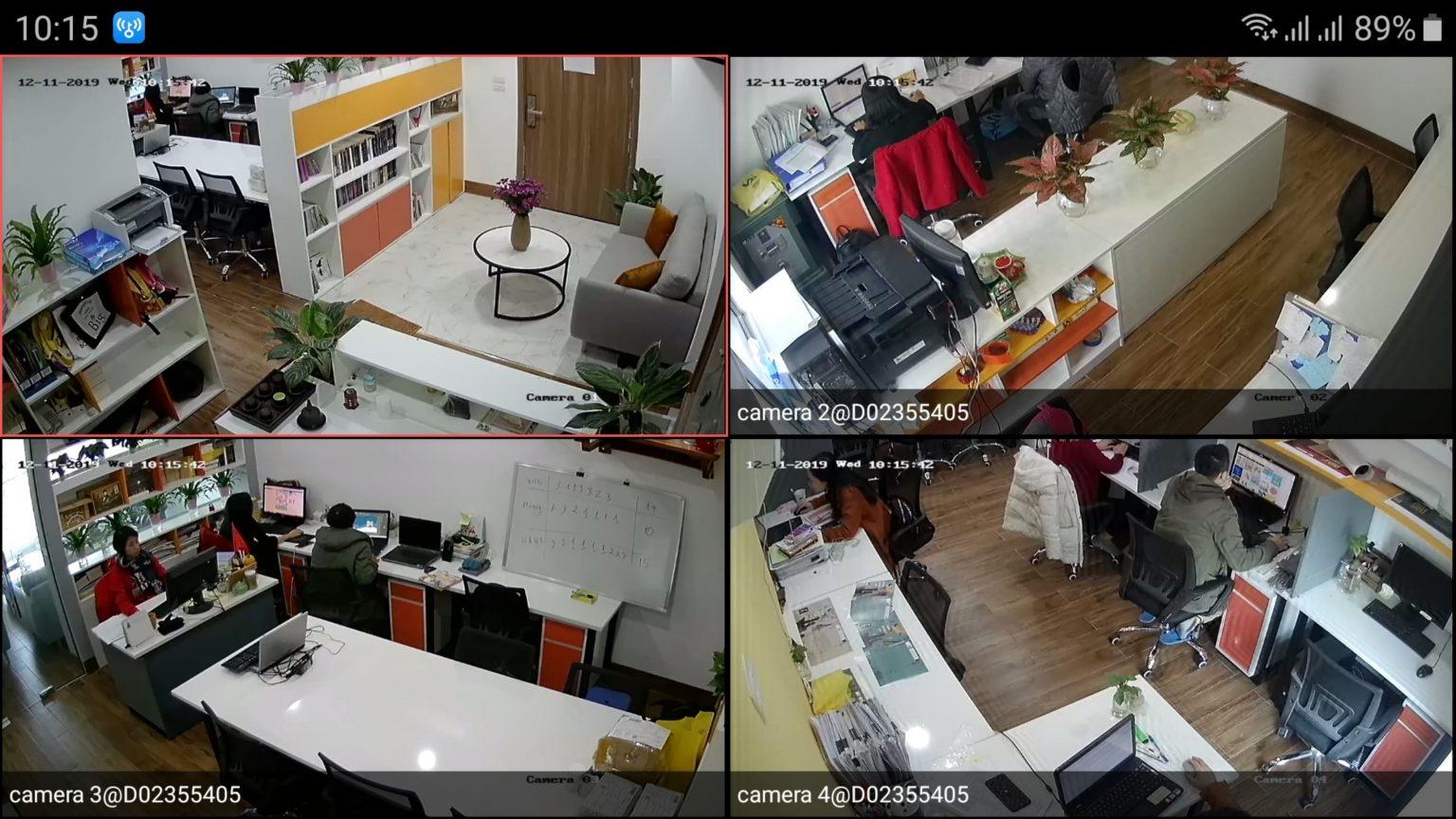 hình ảnh lắp camera tại văn phòng công ty