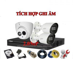 Bộ 1 Mắt Dahua 2.0MP 1080P Vỏ Kim Loại - Có Mic Ghi Âm