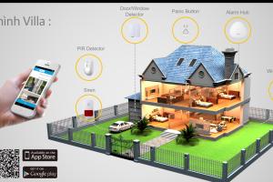 Mang lại giải pháp thiết bị báo động không dây cho căn hộ và biệt thự hiệu quả