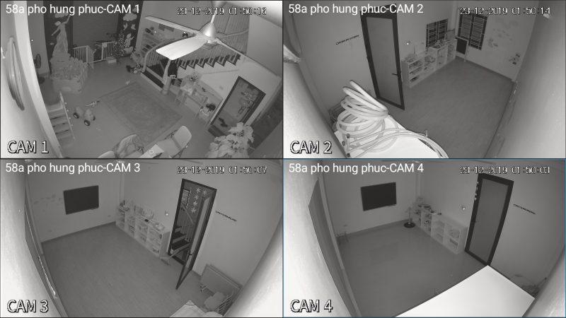 hình ảnh ban đêm lắp đặt camera bộ dahua 2M-1080p vỏ nhựa