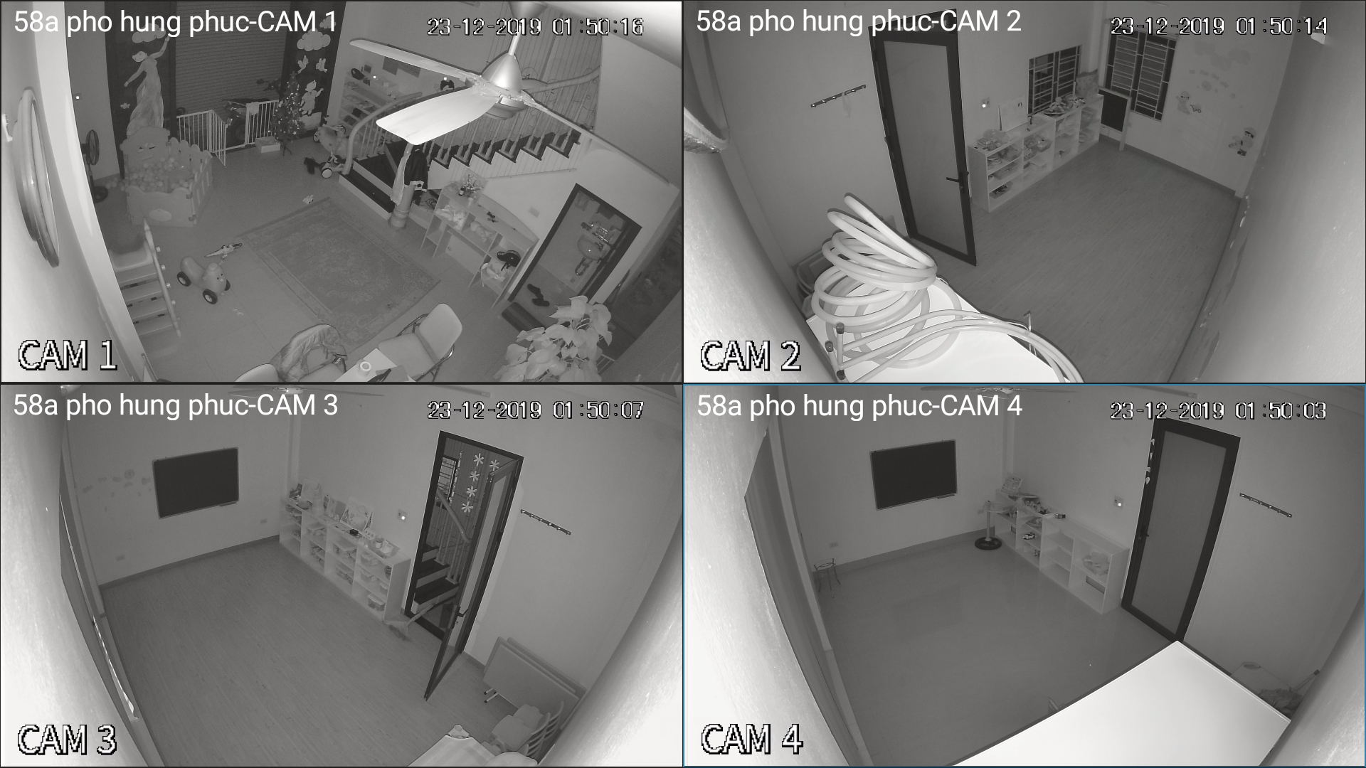 hình ảnh ban đêm bộ camera dahua 2M-1080p vỏ nhựa