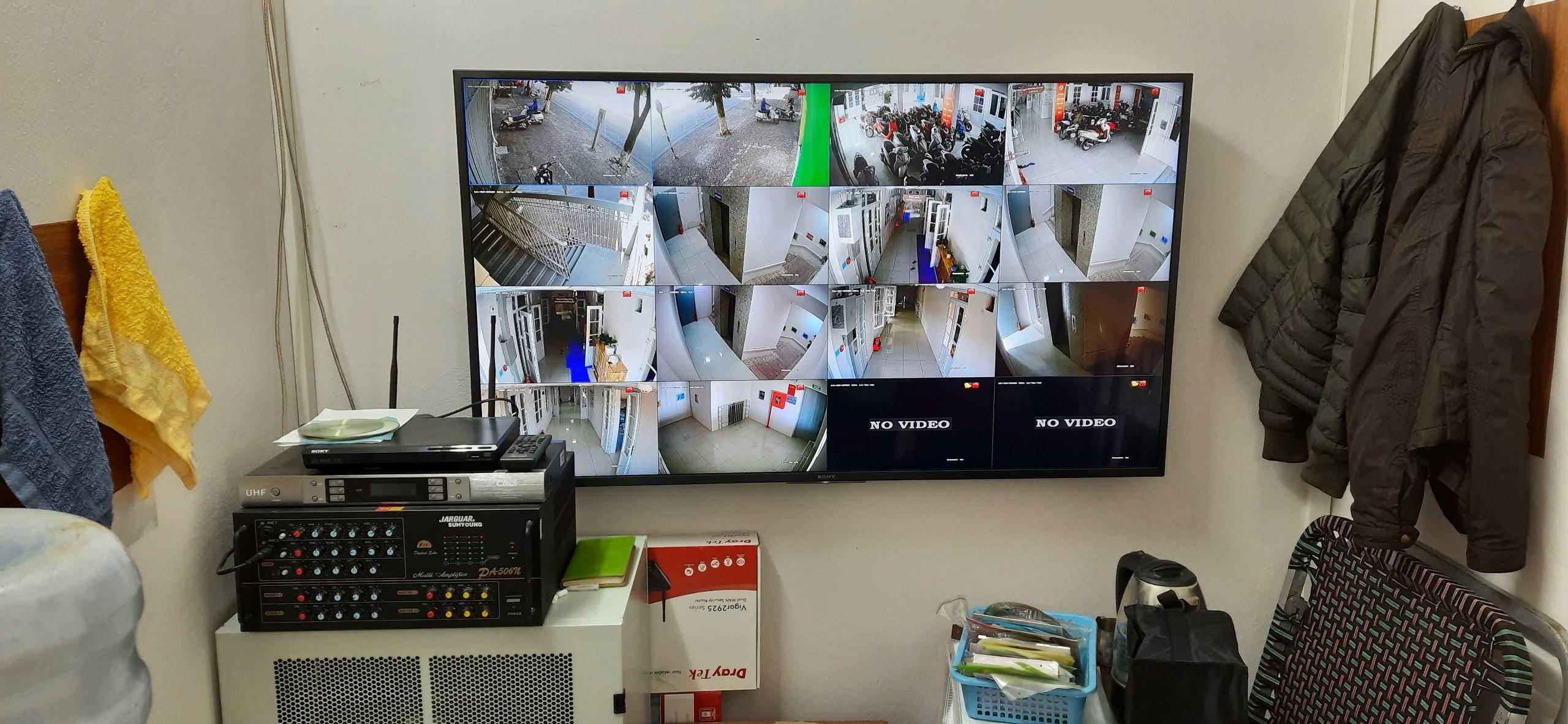 Lắp trọn bộ 14 camera Hikvision 2.0-1080P-tại trường mầm non 147 Nguyễn Thái Học-Ba Đình-Hà Nội