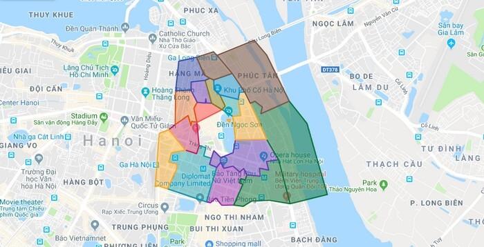 bản đồ Quận Hoàn Kiếm Hà Nội