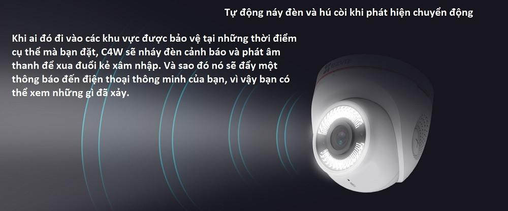 camera wifi Ezviz C4W sẽ nháy đèn